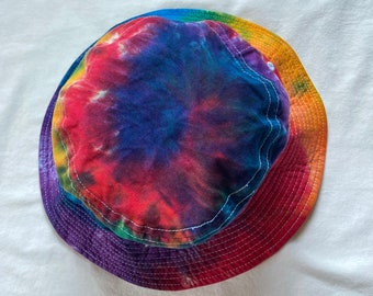 Tie Dye Rainbow Sportsman Bucket Hat