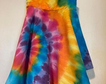Tie Dye Girl's Rainbow Fairy Sundress