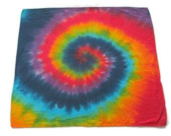 Tie Dye Handkerchief in Rainbow Swirl