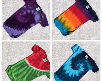 Baby Bamboo and Cotton Tie Dye Creepers/Rompers in Choice of Colors