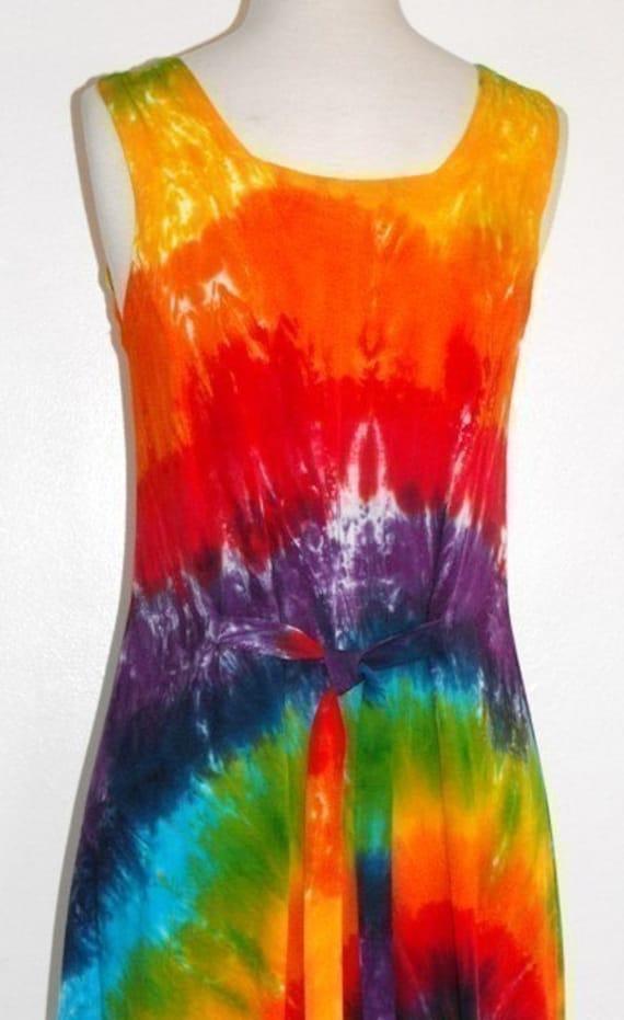 Rainbow Dyed Day-dress