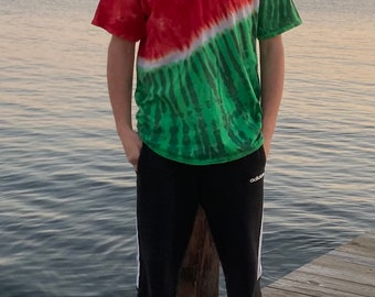 Tie Dye Watermelon T-Shirts in Adult Sizes