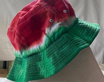 Watermelon Tie Dye Adult Sportsman Bucket Hat