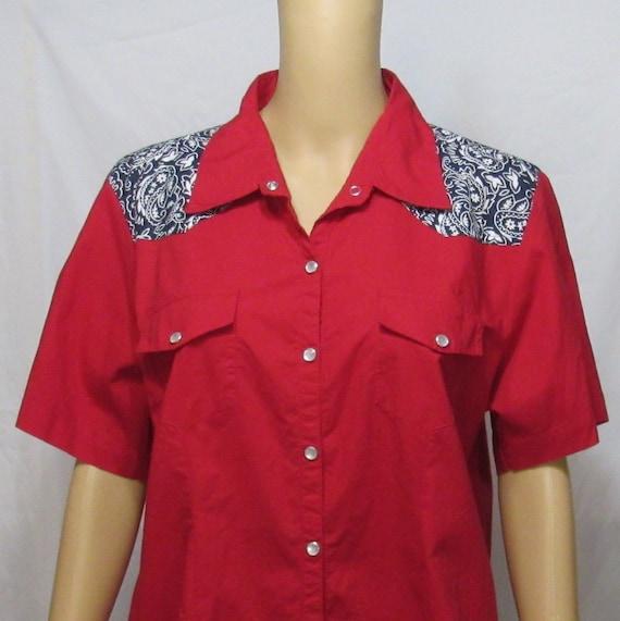 Vintage Women's Western Style Shirt~XL