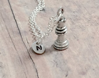 Chess Queen pendant chess hand cut coin pendant