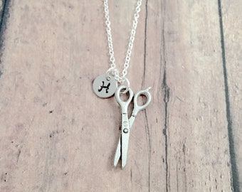 Fancy scissors necklace