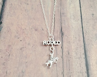 Sterling necklace Perfect gift for Rodeo lovers Bull rider Bull Rider Cross