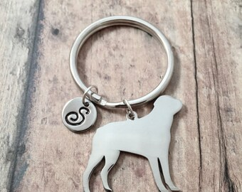 Rottweiler initial key ring - Rottweiler keychain 5357f10e6