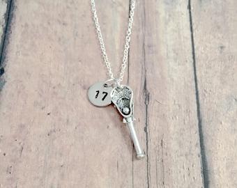 Girls Lacrosse Gift Girls Lacrosse Necklace Lacrosse Jewelry Girls Lacrosse Jewelry Lacrosse Charm Necklace Lacrosse Necklace
