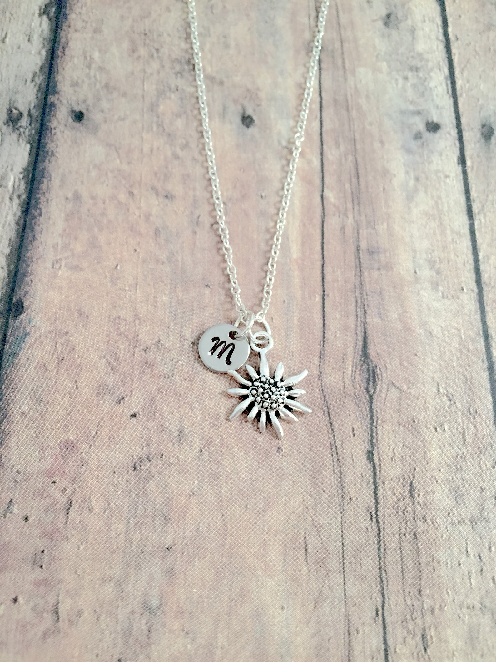 Edelweiss Initial Necklace