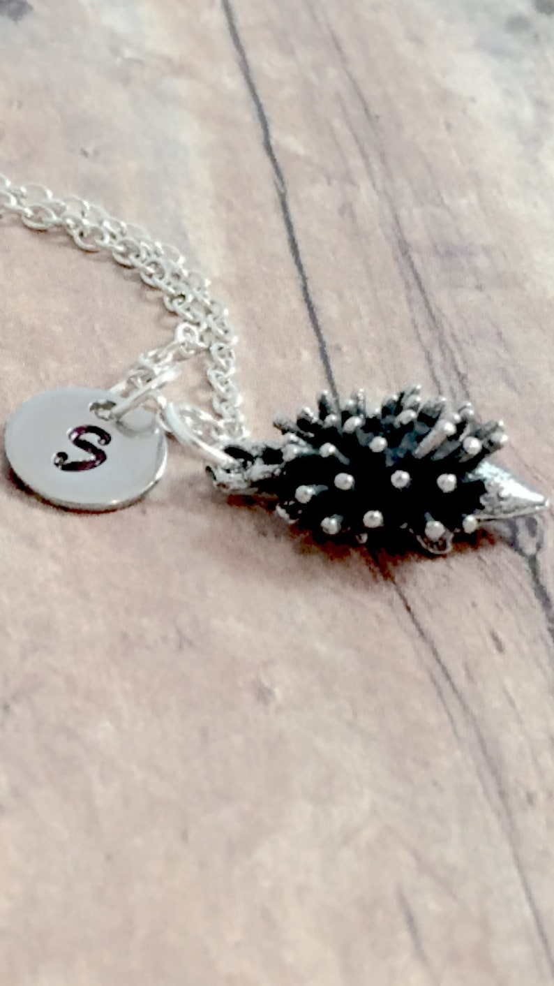 Australia necklace echidna gift echidna necklace Australia jewelry spiny anteater jewelry echidna jewelry Echidna initial necklace