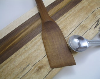 Small Roasted Maple Spatula Hand Crafted to Last