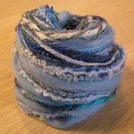 Yarn Variety Hank, Fibre Pack, Art Fibers, light blue yarns, felting