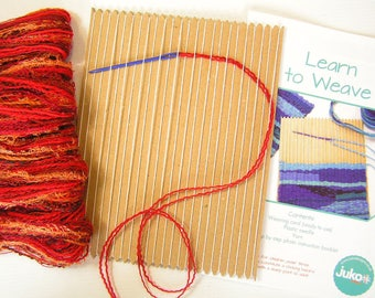 Learn to Weave Kit in Autumn Colourway