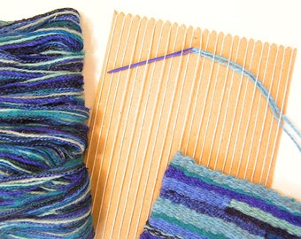 Learn to Weave Kit in Ocean Colourway