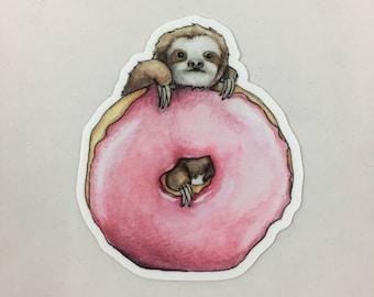 Vinyl Sticker - Doughnut Sloth