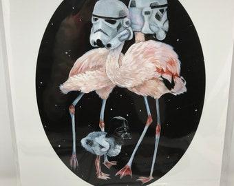 Star Wars Flamingo 2.0 - 8x10 Print