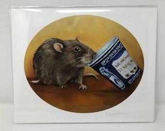 Coffee Rat - 8x10 Print