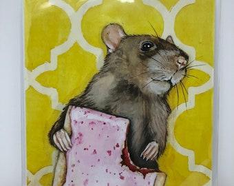 Pop Tart Rat - 8x10 Print