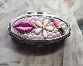 Pill Box Hot Pink lipstick Bling
