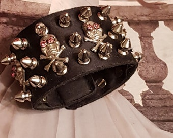 Gothic Skull Cuff/Spikes And Skulls