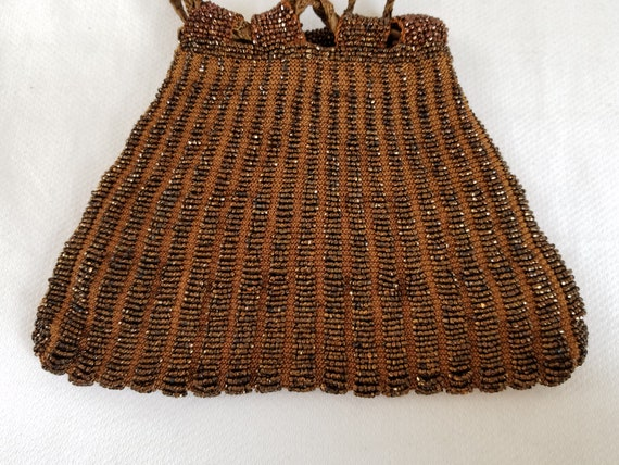 1920's-1930's  BEADED DRAWSTRING BAG - image 3