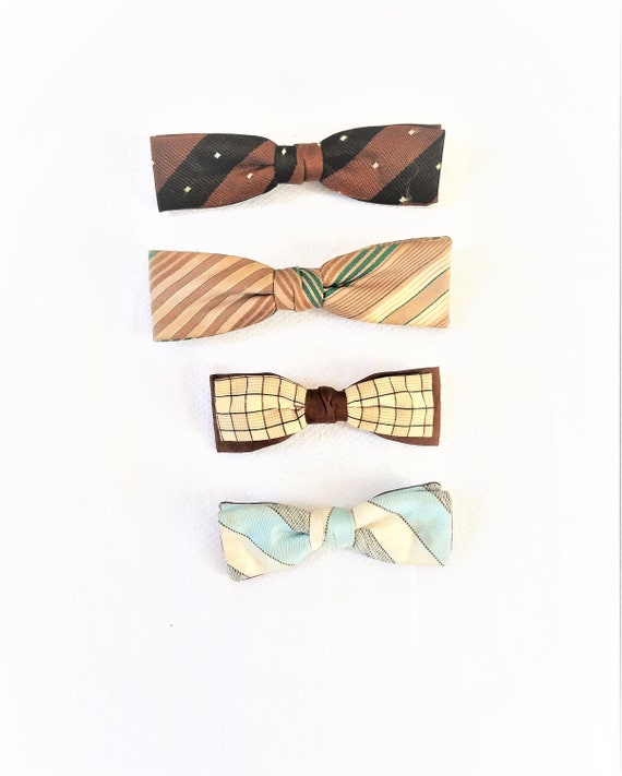 1940's-50's BOW TIE COLLECTION       Lot of 4