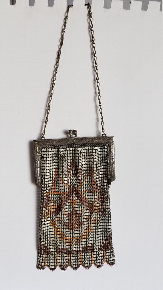 1920's-30's ENAMEL MESH BAG - image 2