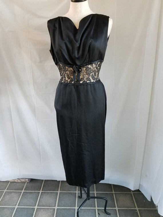 "1940's-50's "" Wiggle "" Sheath Evening Dress"