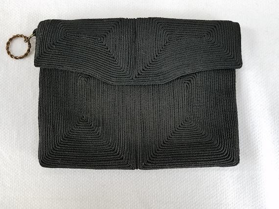 1930's-1940's BLACK CORDE' Clutch