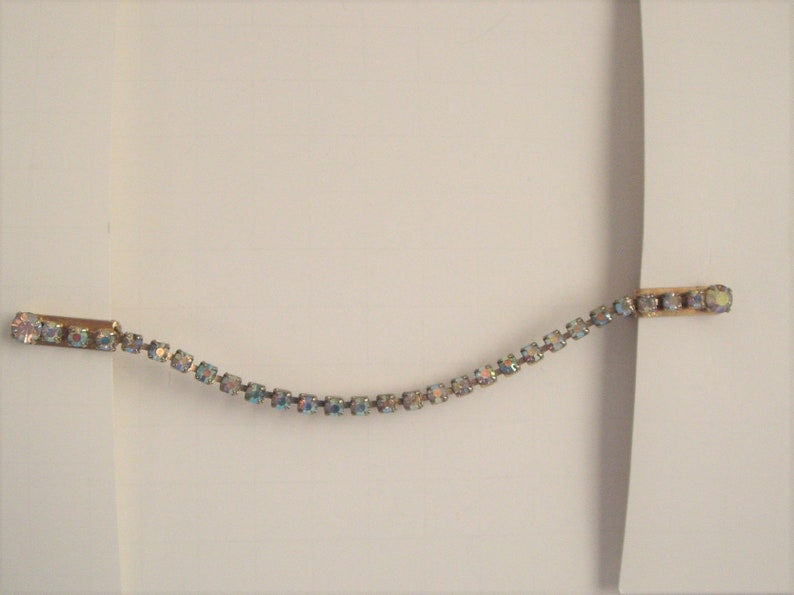 SWEATERCARDIGAN GUARD 1950/'s-60/'s Aura Borealis  Rhinestone