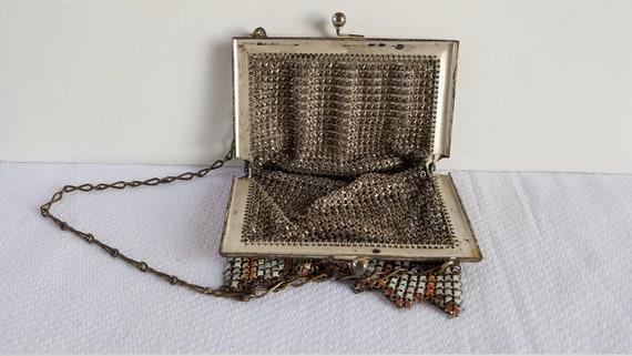 1920's-30's ENAMEL MESH BAG - image 9
