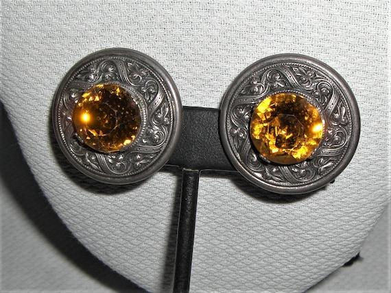Vintage NAPIER RENAISSANCE STYLE Clip Earrings