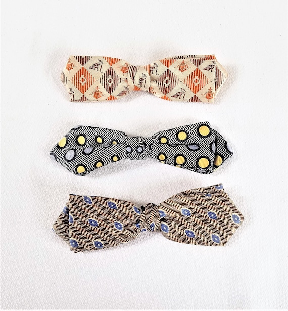 1940's-50's BOW TIE COLLECTION Lot of 3