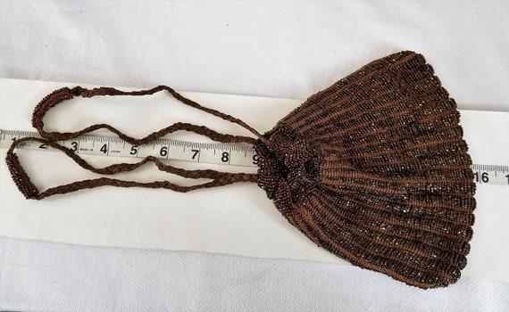 1920's-1930's  BEADED DRAWSTRING BAG - image 6