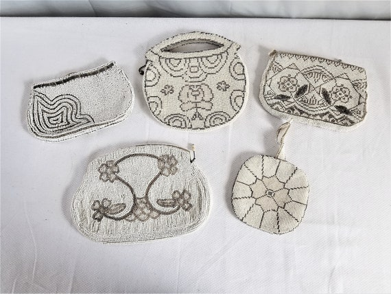 1920's-30's  BEADED EVENING Bag   Lot of 5