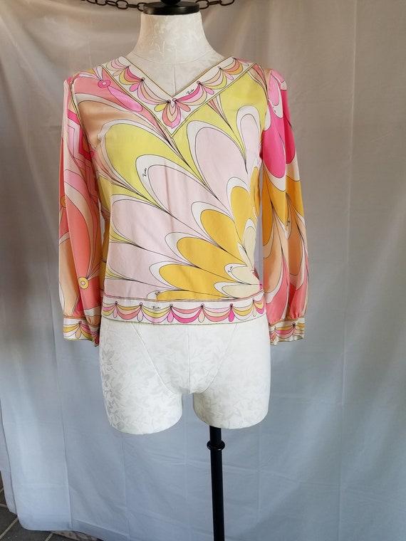1960's-70's EMILIO PUCCI  Silk Blouse