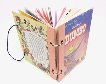 Kids' Refillable Journal - Dumbo Little Golden Book, Kids' Sketchbook, Children's Writing Journal, Travel Activity Book, Coloring Book