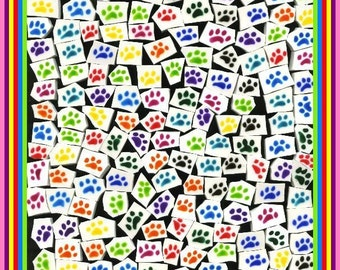 Mosaic Tile PITTER PATTER PAWS mosaic Tiles