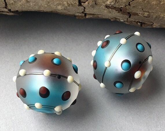 Lampwork Beads Handmade Lampwork For Earrings Beads For Jewelry Round Beads Beading Jewelry Supplies Bead Supply Debbie Sanders