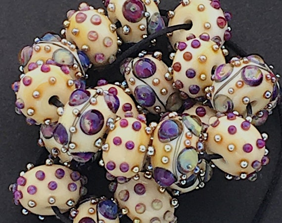 Ivory Lampwork Beads For Jewelry Making Colorful Glass Beads Statement Necklace Beads For Jewelry Sets Bohemian Bead Bracelet Debbie Sanders