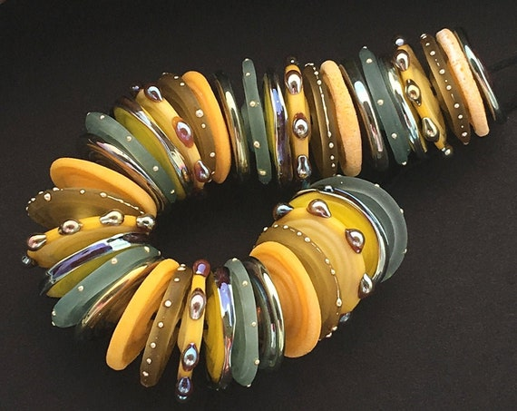 Lampwork Beads Handmade Lampwork Glass Beads For Jewelry Supplies Disc Beads For Bracelet Statement Necklace Jewelry Sets Debbie Sanders