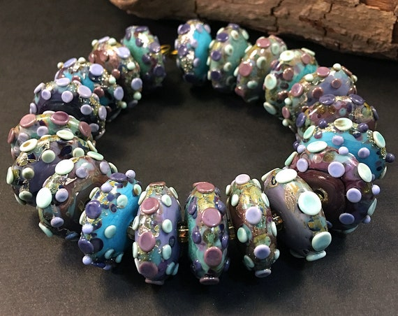Colorful Lampwork Beads For Jewelry Design Handmade Glass Beads For Jewelry Supplies Beaded Necklace Disc Lampwork Beads For Jewelry Making