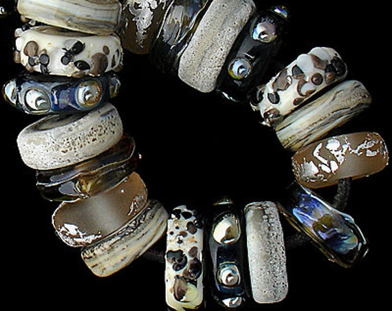 Safari Lampwork Beads For Jewelry Supplies Chunky Glass Discs For Jewelry Supplies Statement African Style Necklace Debbie Sanders