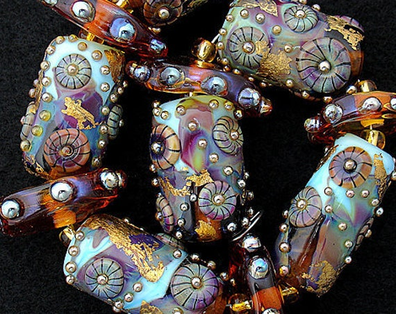 Lampwork Beads Glass Beads Statement Necklace Handmade Beads For Jewelry Sets Pattern Bead Necklace Bead Bracelet Debbie Sanders