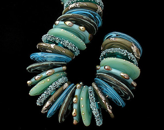 Handmade Lampwork Beads Glass Beads Organic Beads For Necklace Beading Bracelet Beach Jewelry Debbie Sanders