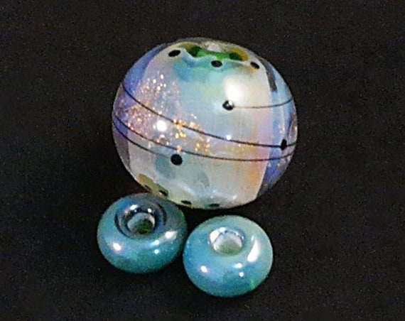 Lampwork Beads For Necklace Focal Bead For Necklace Beads For Jewelry Supplies Jewelry Set Organic Beads Pendant Bead Debbie Sanders