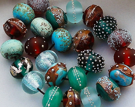 Round Lampwork Glass Beads For Jewelry Supplies Boho Beads For Bracelets Statement Necklace Summer Jewelry Colorful Beads Debbie Sanders