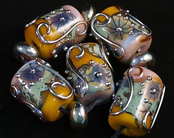 Lampwork Beads Handmade Glass Beads For Jewelry Supplies Boho Jewelry Sets Organic Beads Holiday Jewelry Beads Beading Crafts Debbie Sanders