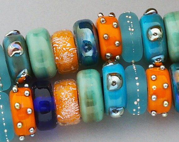 Colorful Lampwork Beads For Jewelry Handmade Glass Discs For Statement Necklace Beads For Bracelet Artisan Beads For Jewelry Supplies